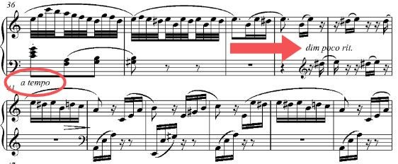 What Does A Tempo Mean In Music Pianotels Com